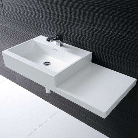 laufen living city waschtisch asymmetrisch wei ohne hahnloch. Black Bedroom Furniture Sets. Home Design Ideas
