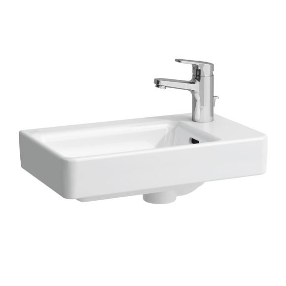 laufen pro handwaschbecken asymmetrisch wei mit clean coat mit 1 hahnloch 8159544001041. Black Bedroom Furniture Sets. Home Design Ideas