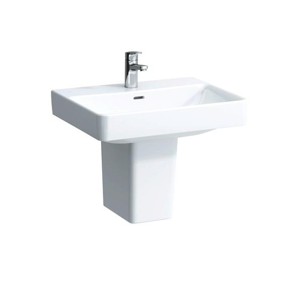laufen pro s waschtisch wei mit berlauf und 1 hahnloch 8109630001041 reuter onlineshop. Black Bedroom Furniture Sets. Home Design Ideas