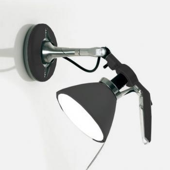 luceplan fortebraccio deckenleuchte wandleuchte mit ein aus schalter 100 watt 1d33nsgi0001. Black Bedroom Furniture Sets. Home Design Ideas