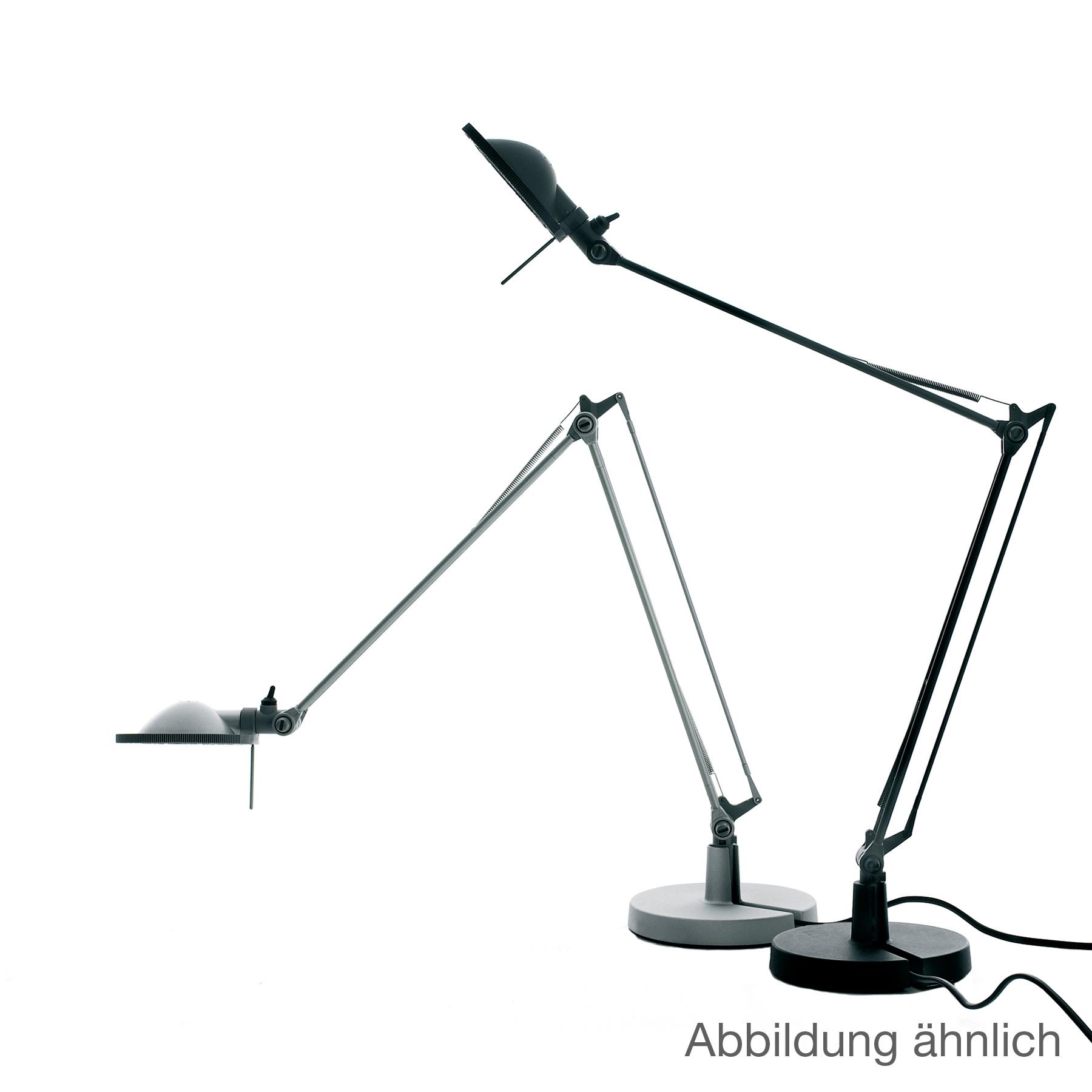 Luceplan Berenice Tischleuchte mit Tischfuß Ø 15 cm und Metallreflektor, schwarz   1D120=00E001 ...