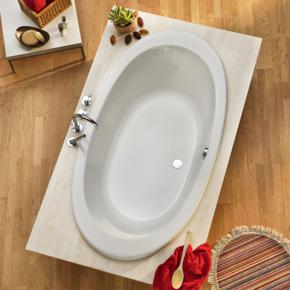 ottofond gomera oval badewanne mit wannentr ger 935001 w. Black Bedroom Furniture Sets. Home Design Ideas