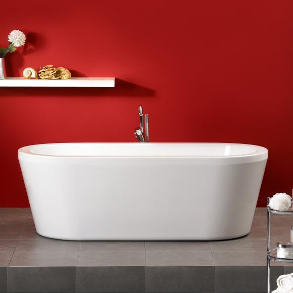flora freistehende oval badewanne wei l 180 b 80 h 60. Black Bedroom Furniture Sets. Home Design Ideas