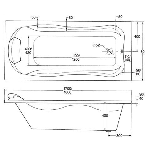 ottofond jamaica rechteck badewanne ohne wannentr ger. Black Bedroom Furniture Sets. Home Design Ideas