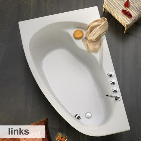 ottofond loredana badewanne ausf hrung links 860401. Black Bedroom Furniture Sets. Home Design Ideas