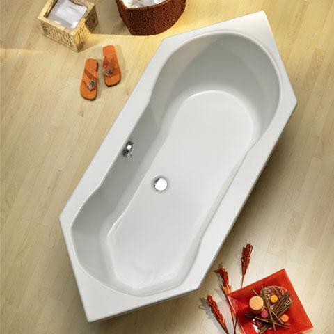 ottofond ravenna sechseck badewanne ohne wannentr ger. Black Bedroom Furniture Sets. Home Design Ideas