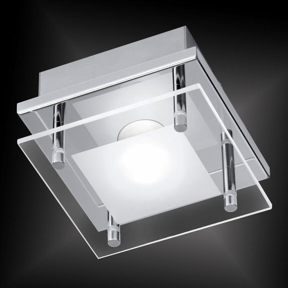 Paul Neuhaus Chiron LED Deckenleuchte B:12 H:7,2 T:12 cm, nickel matt/chrom/teilsatiniert 6865-17 CHIRON, EEK: A+. Diese Leuchte enthält eingebaute LED-Lampen. A++ (LED), A+ (LED), A (LED). Die Lampen können in der Leuchte nicht ausgetauscht werden.