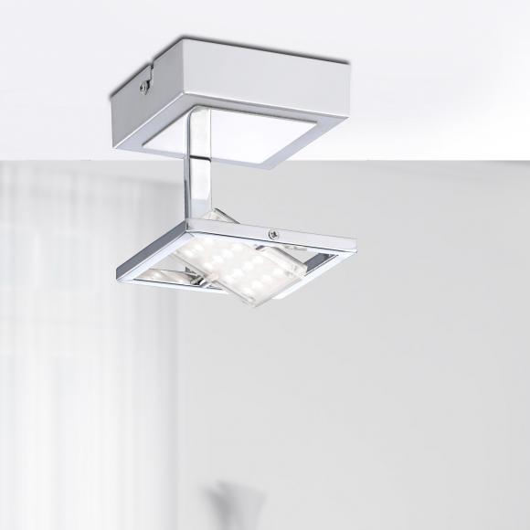 Paul Neuhaus Fantino LED Deckenleuchte B: 10 H: 13 T: 9,5 cm, nickel matt/chrom/satiniert 8064-17 FANTINO, EEK: A+. Diese Leuchte enthält eingebaute LED-Lampen. A++ (LED), A+ (LED), A (LED). Die Lampen können in der Leuchte nicht ausgetauscht werden.