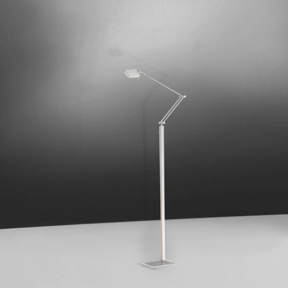 Paul Neuhaus Futura LED Stehleuchte B: 16 H: 168,5 T: 20 cm, nickel matt/chrom/klar 313-55 FUTURA, EEK: A+. Diese Leuchte enthält eingebaute LED-Lampen. A++ (LED), A+ (LED), A (LED). Die Lampen können in der Leuchte nicht ausgetauscht werden.