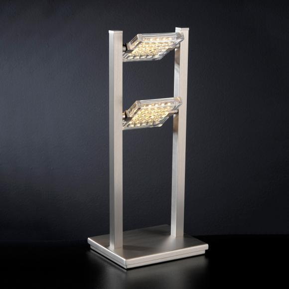 Paul Neuhaus Futura LED Tischleuchte B: 16 H: 37,5 T: 13 cm, nickel matt/klar 4341-55 FUTURA, EEK: A+. Diese Leuchte enthält eingebaute LED-Lampen. A++ (LED), A+ (LED), A (LED). Die Lampen können in der Leuchte nicht ausgetauscht werden.