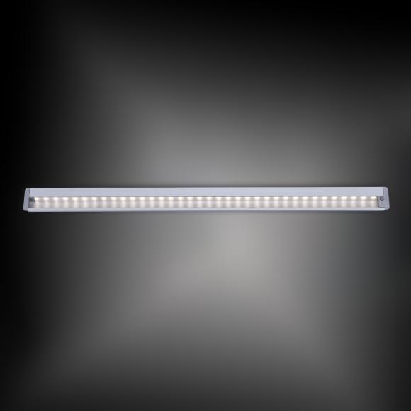 Paul Neuhaus Helena LED Unterbauleuchte mit Ein-/Ausschalter B:59,5 H:1,2 T:4 cm, aluminium 1122-95, EEK: A+. Diese Leuchte enthält eingebaute LED-Lampen. A++ (LED), A+ (LED), A (LED). Die Lampen können in der Leuchte nicht ausgetauscht werden.