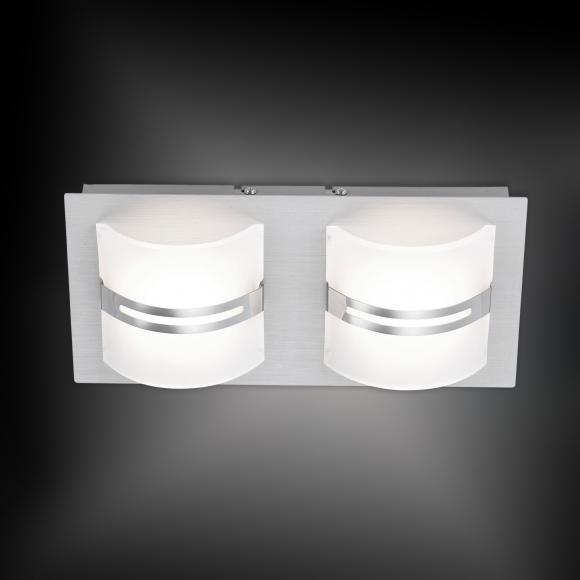 Paul Neuhaus Klara LED Deckenleuchte mit Dimmer B:30 H:7 T:15 cm, satiniert/aluminium 6409-95, EEK: A++. Diese Leuchte enthält eingebaute LED-Lampen. A++ (LED), A+ (LED), A (LED). Die Lampen können in der Leuchte nicht ausgetauscht werden.