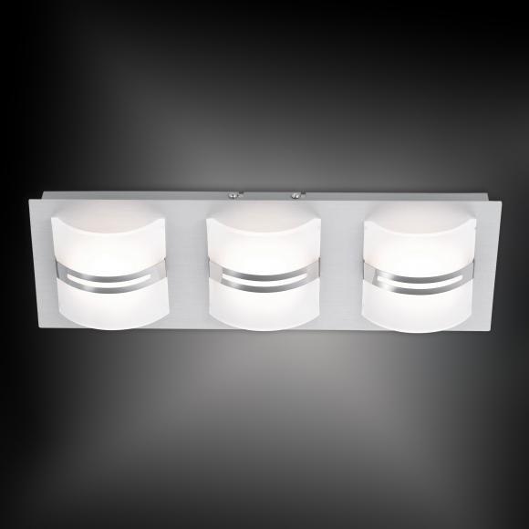 Paul Neuhaus Klara LED Deckenleuchte mit Dimmer B:45 H:7 T:15 cm, satiniert/aluminium 6411-95, EEK: A++. Diese Leuchte enthält eingebaute LED-Lampen. A++ (LED), A+ (LED), A (LED). Die Lampen können in der Leuchte nicht ausgetauscht werden.