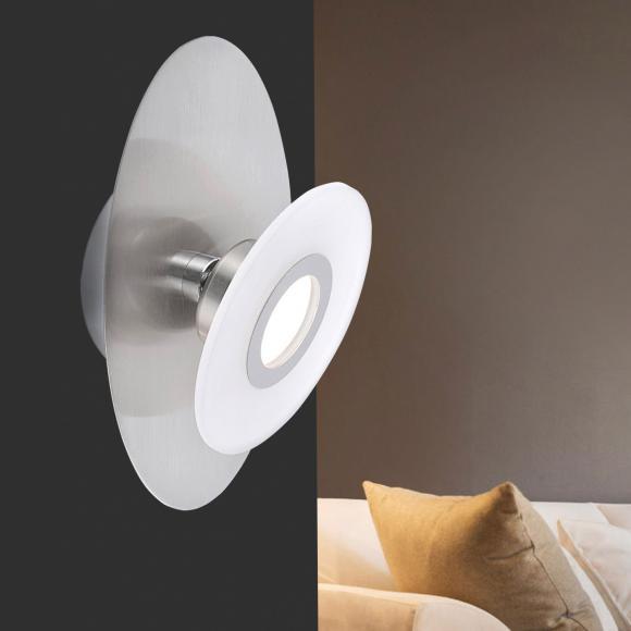 Paul Neuhaus Magna LED Wandleuchte m. Dimmer u. Ein-/Aussch. B:13 H:24cm, nickel m./satin. 9561-55 MAGNA, EEK: A+. Diese Leuchte enthält eingebaute LED-Lampen. A++ (LED), A+ (LED), A (LED). Die Lampen können in der Leuchte nicht ausgetauscht werden.