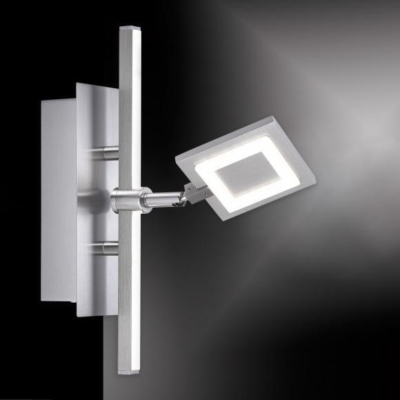Paul Neuhaus Milan LED Wandleuchte m. Dimmer u. Ein-/Ausschalter B:13 H:25,5 T:20 cm, stahl/satiniert 9100-55, EEK: A+. Diese Leuchte enthält eingebaute LED-Lampen. A++ (LED), A+ (LED), A (LED). Die Lampen können in der Leuchte nicht ausgetauscht werden.