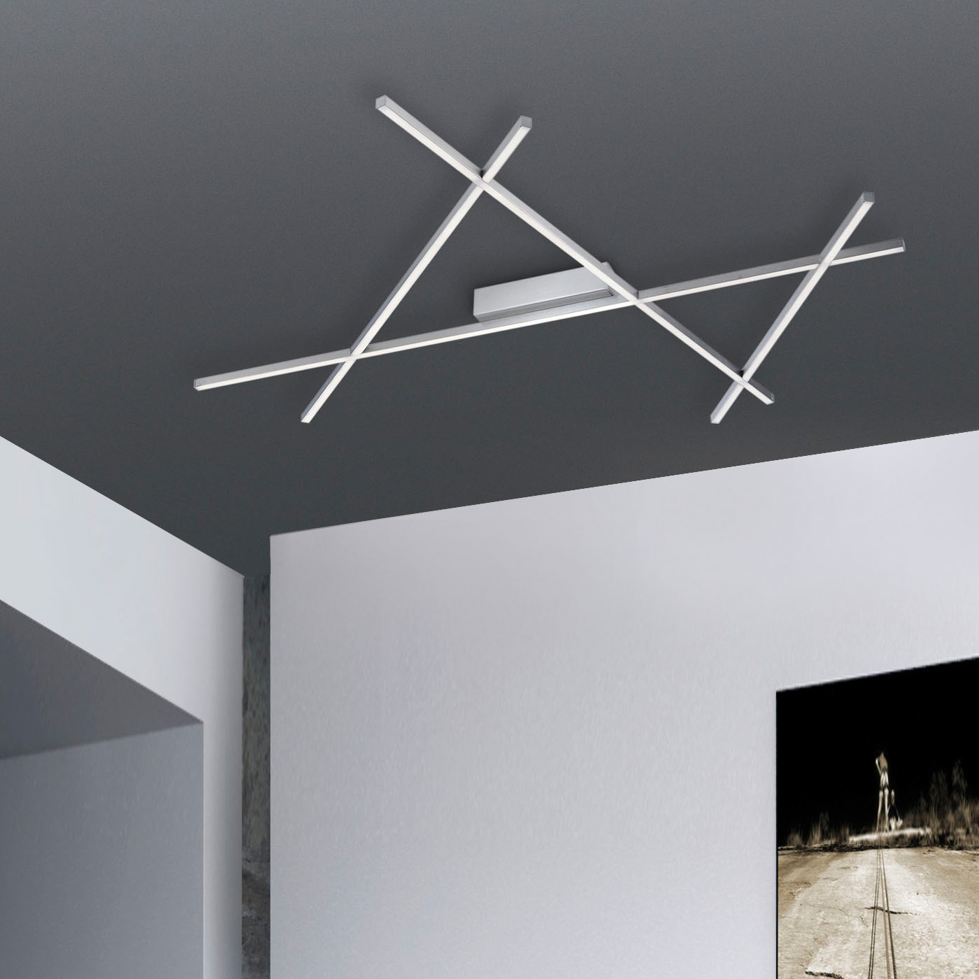 paul neuhaus stick 2 led deckenleuchte mit dimmer 8052 55 stick reuter onlineshop. Black Bedroom Furniture Sets. Home Design Ideas