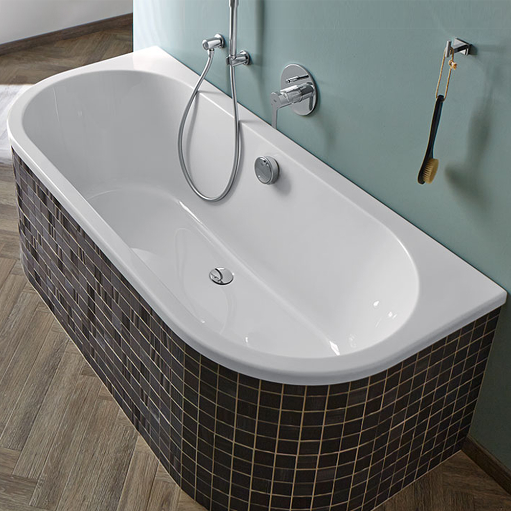 repabad livorno 180 80 oval f wand freistehende badewanne 31671we reuter onlineshop. Black Bedroom Furniture Sets. Home Design Ideas