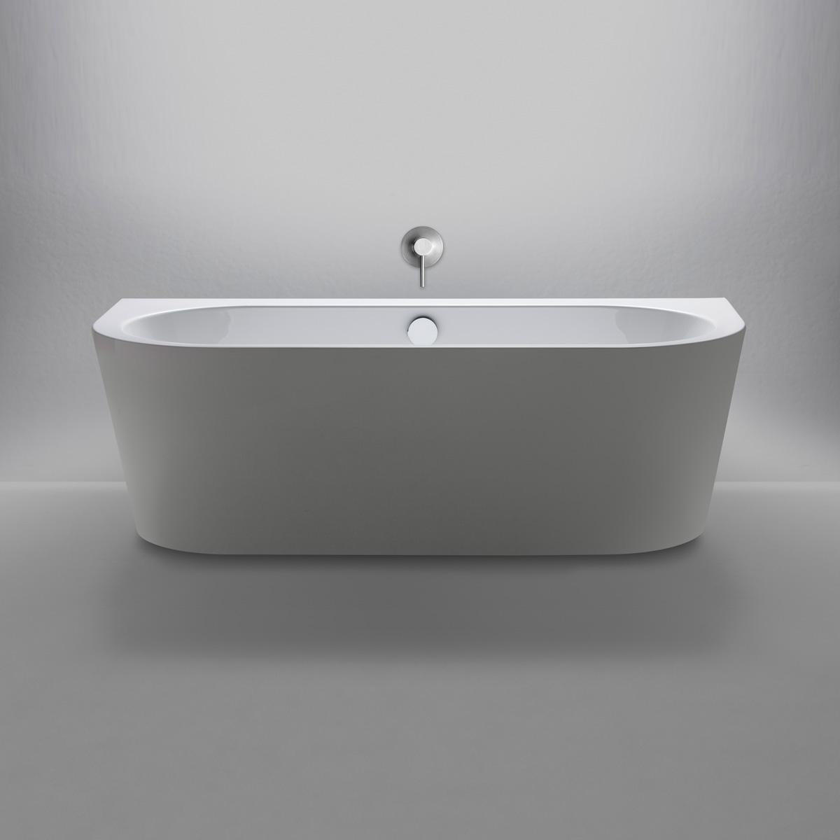 repabad livorno 180 80 oval f wand freistehende badewanne. Black Bedroom Furniture Sets. Home Design Ideas