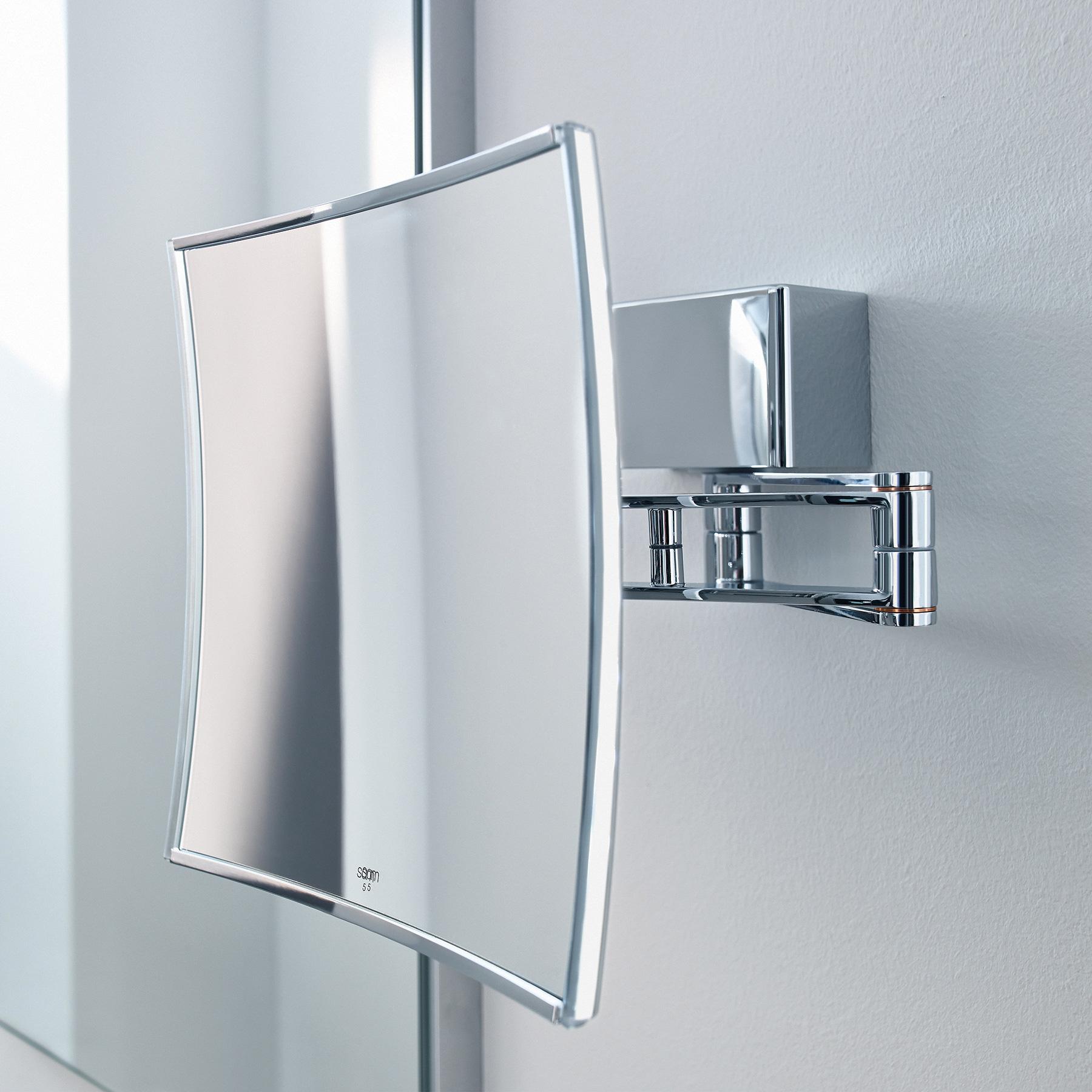 sam miro quadra wand kosmetikspiegel ausladung 340 mm 5 fach vergr erung led 5503870010. Black Bedroom Furniture Sets. Home Design Ideas
