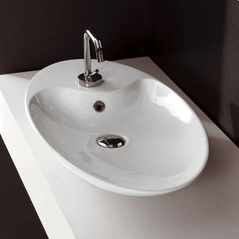 scarabeo shape aufsatzwaschtisch oval wei 8097 reuter onlineshop. Black Bedroom Furniture Sets. Home Design Ideas