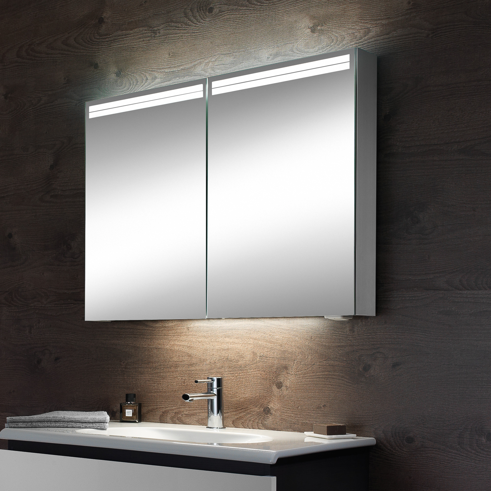 schneider arangaline spiegelschrank b 80 h 70 t 12 cm. Black Bedroom Furniture Sets. Home Design Ideas