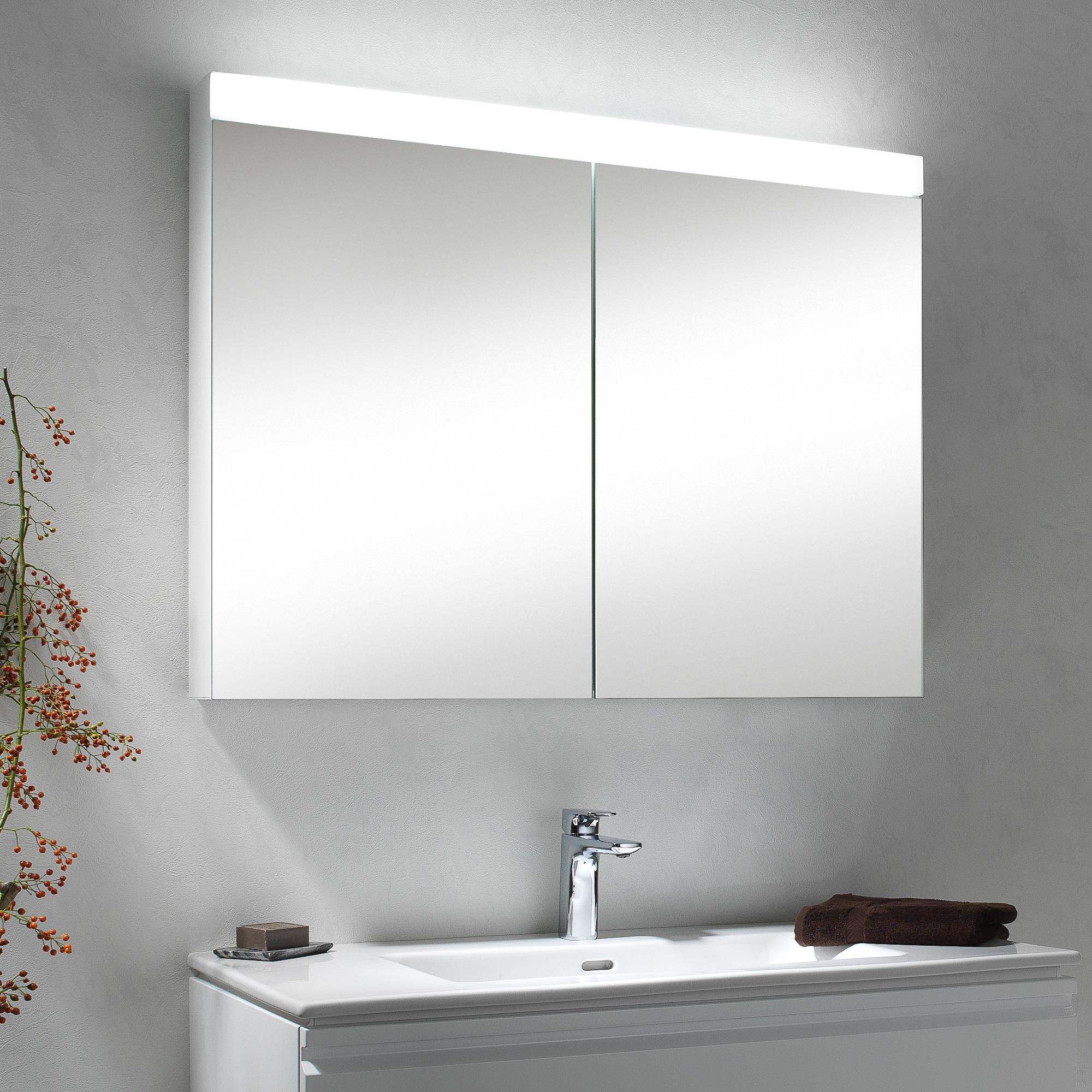 schneider pataline spiegelschrank b 80 h 70 t 12 cm mit 2 t ren reuter. Black Bedroom Furniture Sets. Home Design Ideas