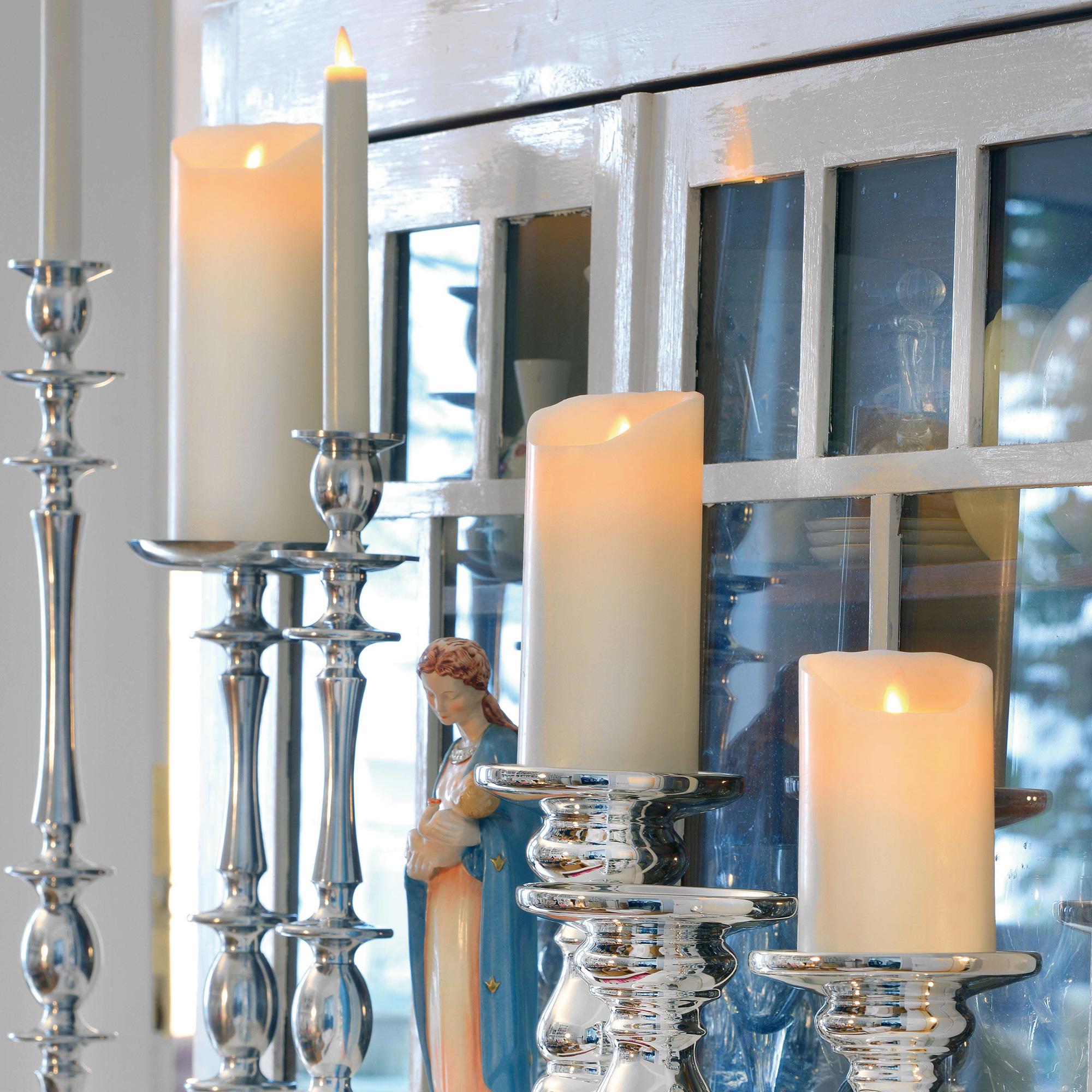 sompex flame led echtwachskerzen 3 er set mit timer. Black Bedroom Furniture Sets. Home Design Ideas