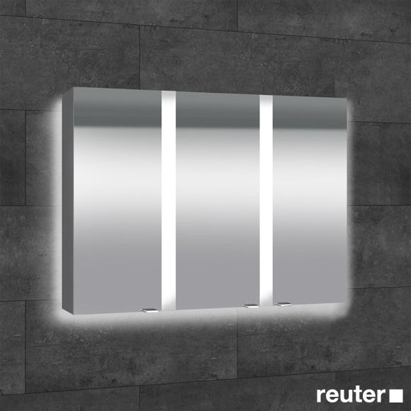 Sprinz Elegant-Line Aufputz Spiegelschrank mit Hintergrundbeleuchtung ...