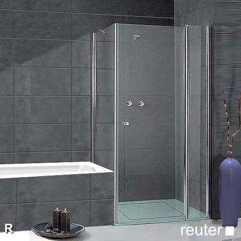sprinz sprinter plus t r mit seitenwand kristall hell silber hochglanz wem 98 3 100 cm. Black Bedroom Furniture Sets. Home Design Ideas