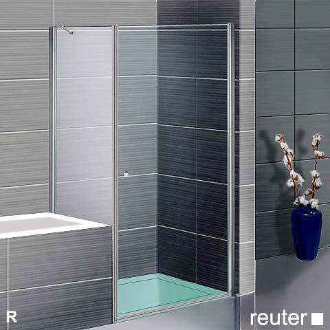 sprinz sprinter plus t r mit seitenwand kristall hell silber hochglanz wem 96 5 98 2 cm. Black Bedroom Furniture Sets. Home Design Ideas