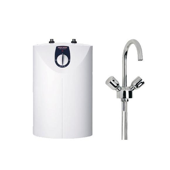 stiebel eltron kleinspeicher snu 5 sl wst w 5 liter mit waschtischarmatur offen 221120. Black Bedroom Furniture Sets. Home Design Ideas