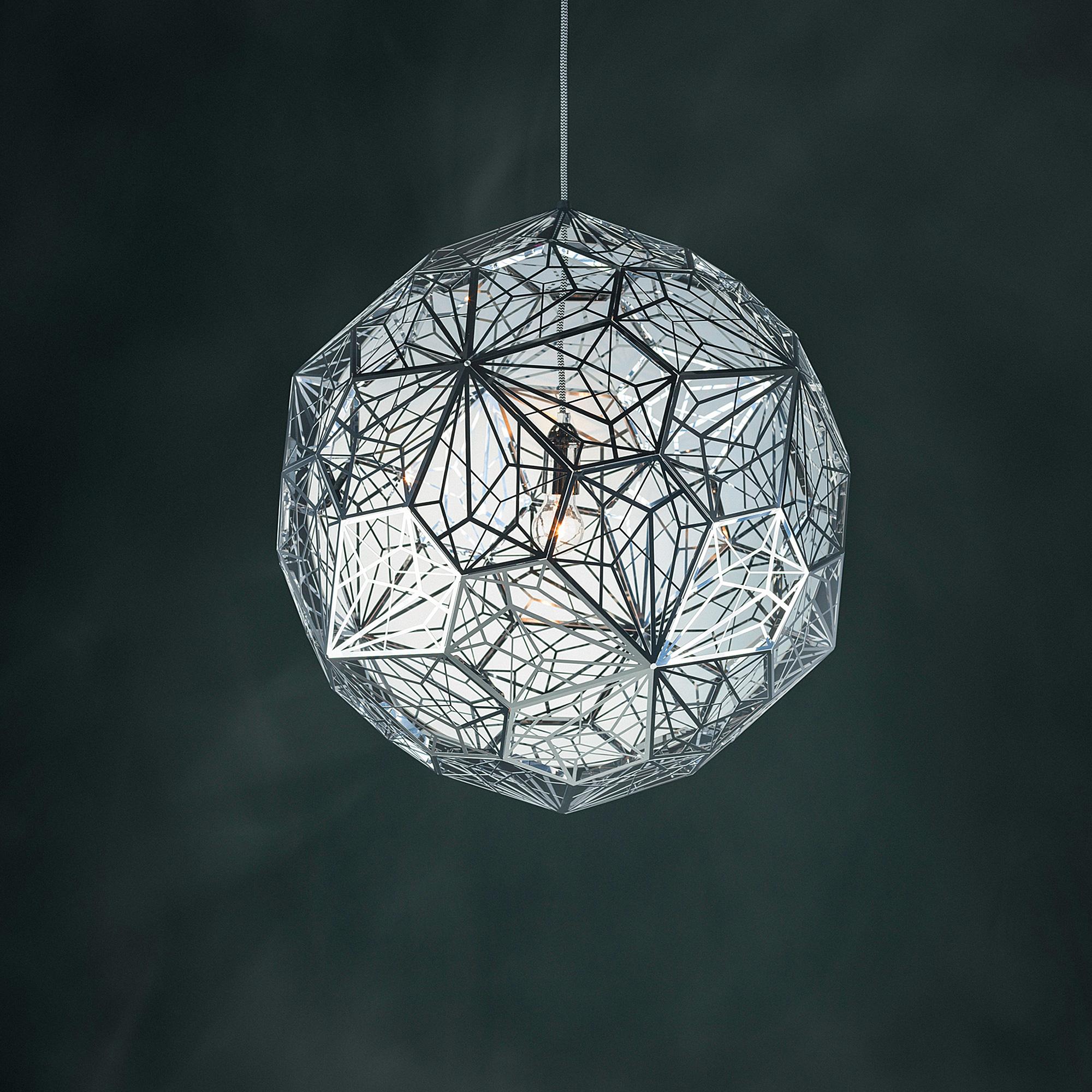 tom dixon etch web steel pendelleuchte 60 cm edelstahl ets01s peum reuter onlineshop. Black Bedroom Furniture Sets. Home Design Ideas