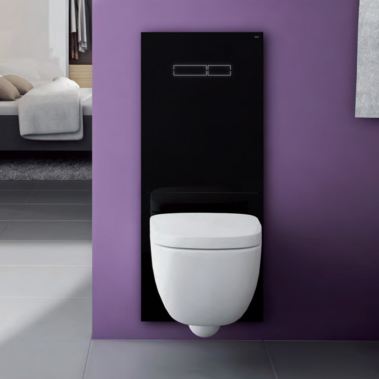 tece lux wc bet tigungsglasplatte mit elektronischer sen touch bet tigung schwarz 9650003. Black Bedroom Furniture Sets. Home Design Ideas