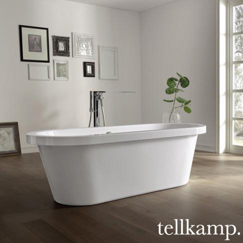 tellkamp elegance freistehende oval badewanne 0100 067 b cr reuter onlineshop. Black Bedroom Furniture Sets. Home Design Ideas