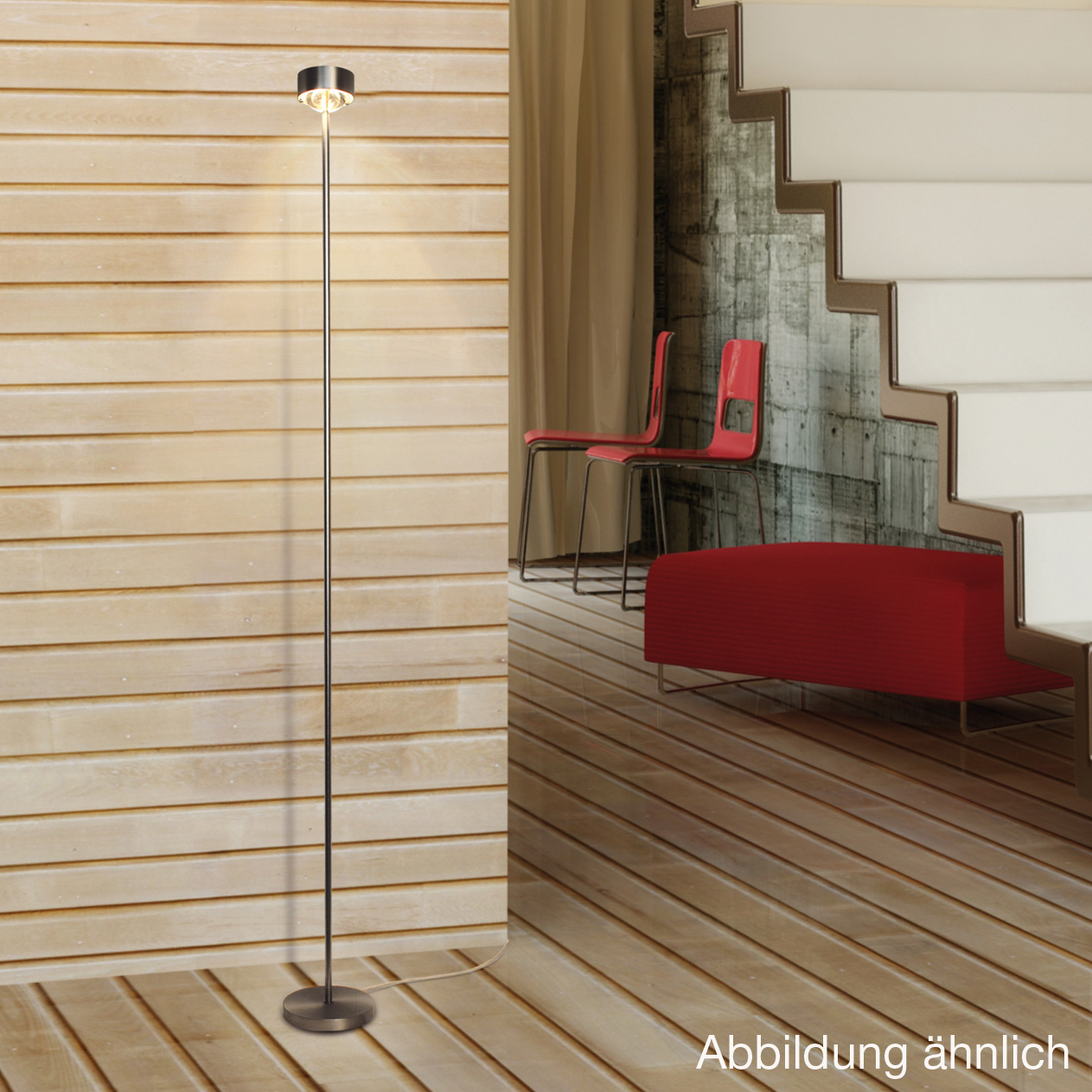 top light puk floor eye stehleuchte mit dimmer 6 0813201. Black Bedroom Furniture Sets. Home Design Ideas