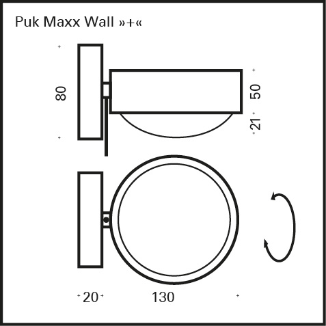 top light puk maxx wall led wandleuchte 2 30802. Black Bedroom Furniture Sets. Home Design Ideas