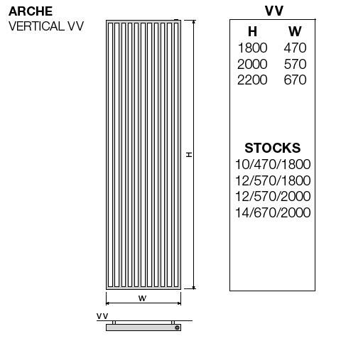 vasco arche vertikal heizk rper weiss breite 470 mm 1050 watt 111170470180011889016 0000. Black Bedroom Furniture Sets. Home Design Ideas