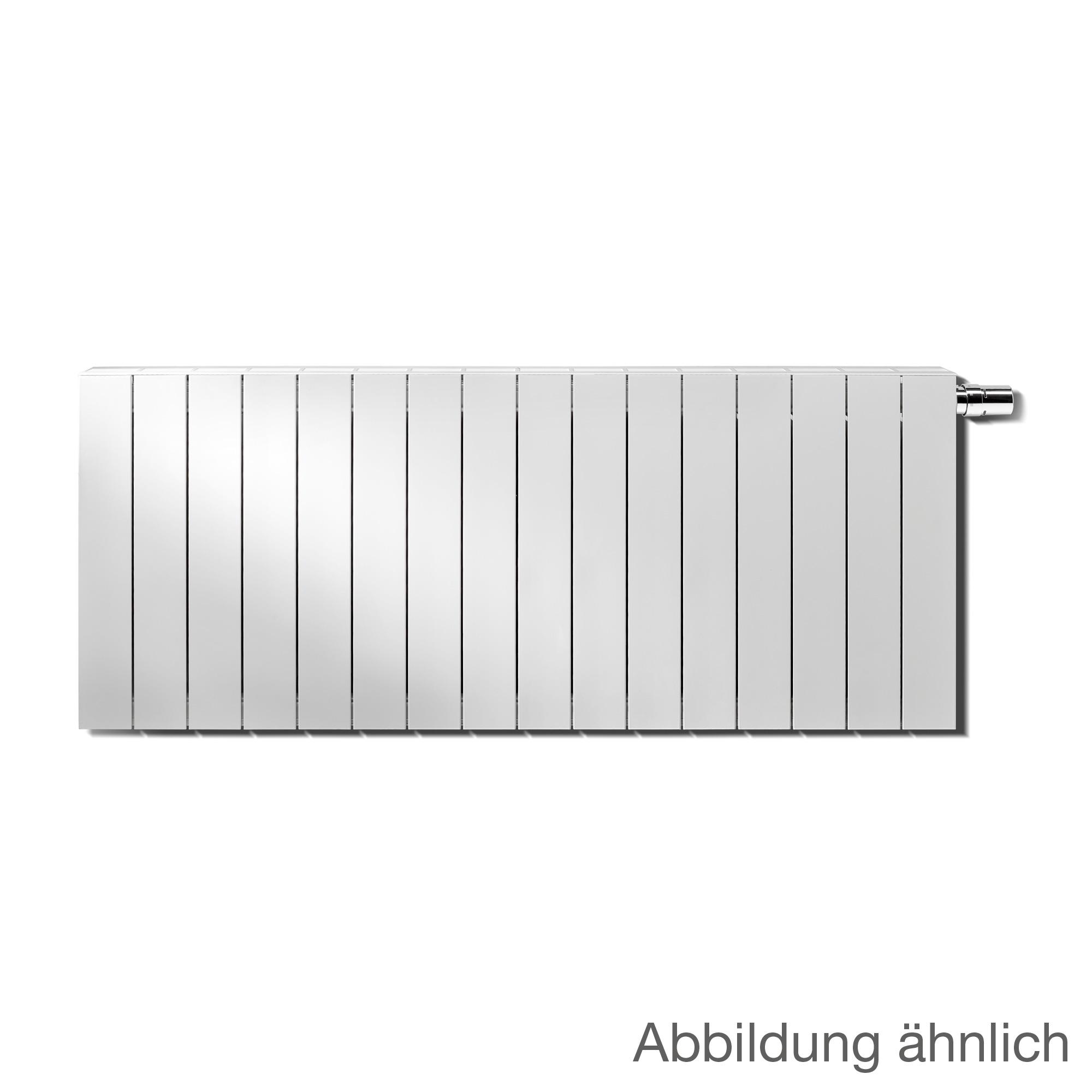 vasco zaros h100 horizontal heizk rper mit integriertem ventil und thermostatkopf wei breite. Black Bedroom Furniture Sets. Home Design Ideas