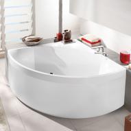 Villeroy & Boch Squaro Badewanne mit separater Schürze weiß