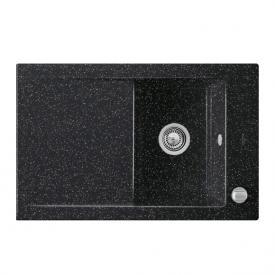 Villeroy & Boch Timeline 45 Flat Spüle mit Excenterbetätigung B: 76,5 T: 47,5 cm chromit glanz/Position Hahnlöcher 1,2 und 3