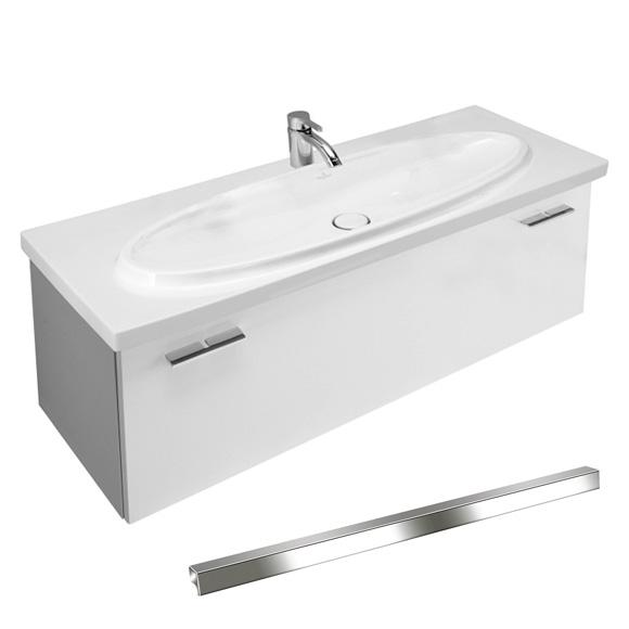 villeroy boch central line waschtischunterschrank mit 1 auszug und innenauszug korpus weiss. Black Bedroom Furniture Sets. Home Design Ideas