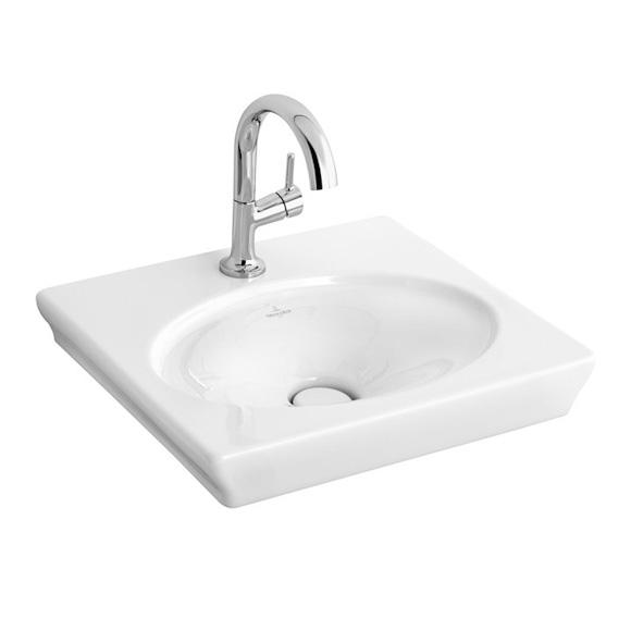 villeroy boch la belle handwaschbecken wei mit ceramicplus mit 1 hahnloch ohne berlauf. Black Bedroom Furniture Sets. Home Design Ideas
