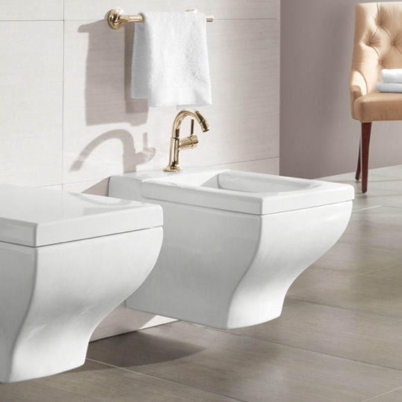 villeroy boch la belle wand bidet l 58 5 b 38 5 cm wei mit ceramicplus mit 1 hahnloch und. Black Bedroom Furniture Sets. Home Design Ideas