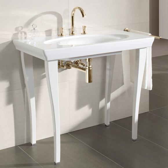 villeroy boch la belle waschtisch wei mit ceramicplus. Black Bedroom Furniture Sets. Home Design Ideas