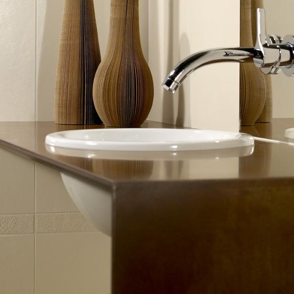 villeroy boch loop friends einbauwaschtisch rund wei mit berlauf 61405101 reuter. Black Bedroom Furniture Sets. Home Design Ideas
