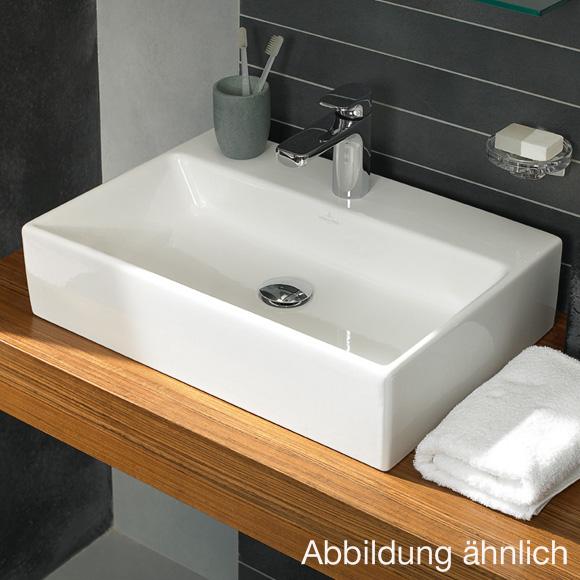 villeroy boch memento aufsatzwaschtisch wei mit ceramicplus mit berlauf 513550r1 reuter. Black Bedroom Furniture Sets. Home Design Ideas