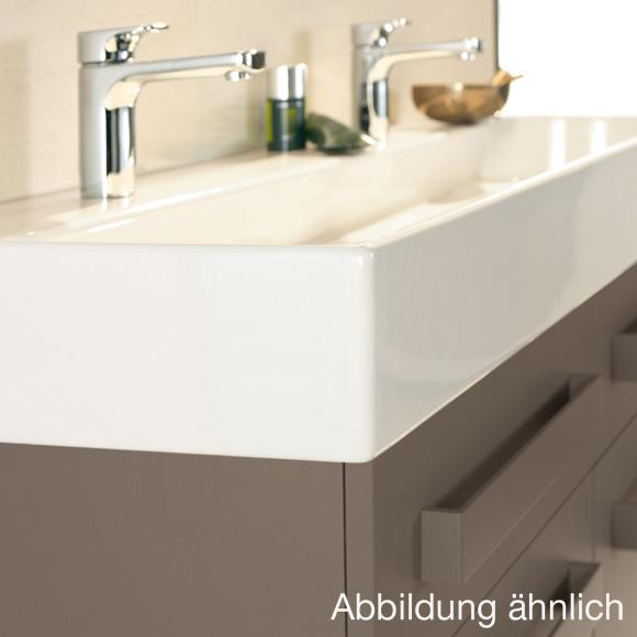 villeroy boch memento doppelwaschtisch wei mit ceramicplus mit 2 hahnl chern 5133ckr1. Black Bedroom Furniture Sets. Home Design Ideas