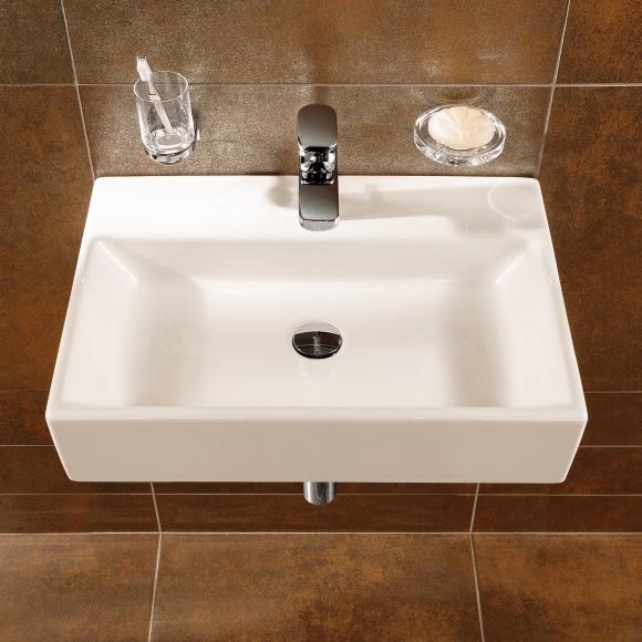 villeroy boch memento waschtisch starwhite ceramicplus mit 1 hahnloch ohne berlauf 513351r2. Black Bedroom Furniture Sets. Home Design Ideas