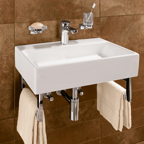 villeroy boch memento waschtisch f r montage mit m beln konsole wei mit 1 hahnloch ohne. Black Bedroom Furniture Sets. Home Design Ideas
