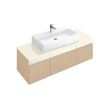 villeroy boch memento waschtischunterschrank front bright oak creme korpus bright oak. Black Bedroom Furniture Sets. Home Design Ideas